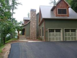 2 car garage connected to house on lot 35 in Hiawassee, GA.